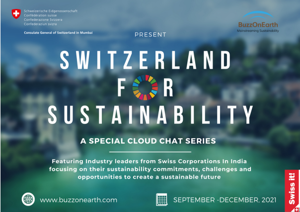 """Consulate General of Switzerland in Mumbai announces the launch of its virtual series """"Switzerland for Sustainability"""""""